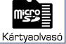 microSD kártya olvasó